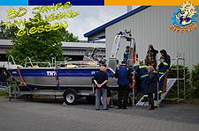 Das Mehrzweckarbeitsboot zog die Besucher an