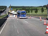 Unfall A5 - Eintreffen an der Einsatzstelle