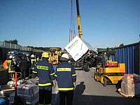 Unfall A5 - LKW Bergung