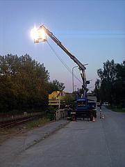 Ausleuchten der Bahnstrecke