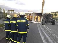 Unfall A5 - Kontrolle auf Gefahrgut